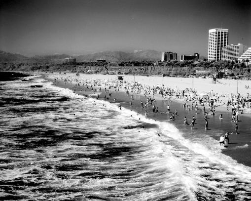 Santa Monica Beach shot in Infra Red