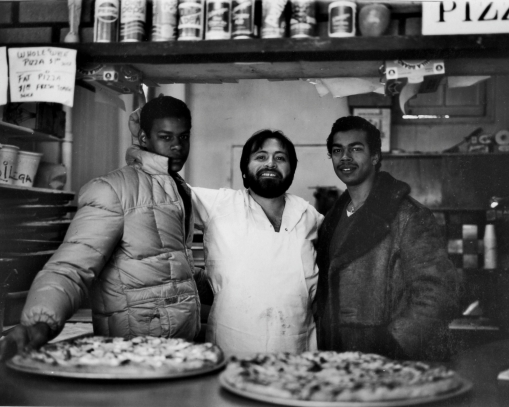 From the NYC Portfolio - Freddie and Peppys Pizza - Large Format 4X5 Tri-x rated 250 ISO dev. Rodinal