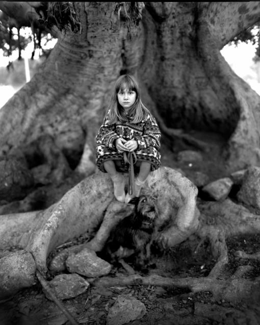 Environmental Portrait Girl and Dog
