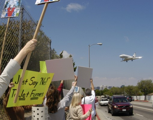 Feature Story for The Santa Monica News - Protest over the expansion at Santa Monica Airport to accommodate larger commercial jets.