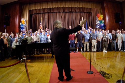 Los Angeles Gay Mens Choir performing at installation of the West Hollywood Mayor West Side Chronicle