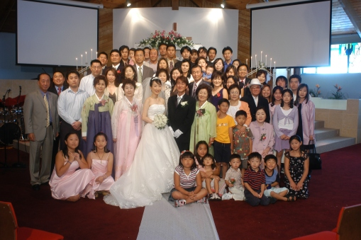Bride and Grooms family together