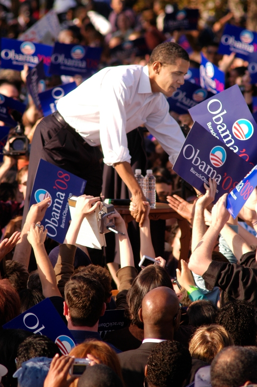 West Side Chronicle story, Barak Obama campaigning for his first presidential election.